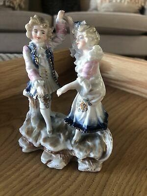 Porceline China Double Figurine With Damage Antique Unmarked • 4£