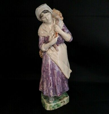 Antique 8  Peasant Woman Carrying Firewood Figure - Hand-Painted Figurine. RARE • 59.99£