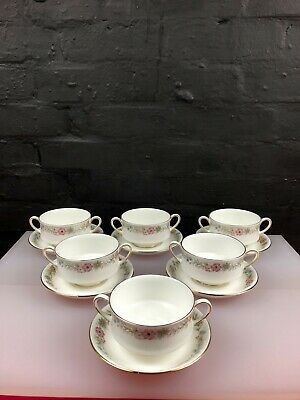 6 X Royal Albert Paragon Belinda Soup Coups Bowl And Stands 2 Sets Available  • 39.99£