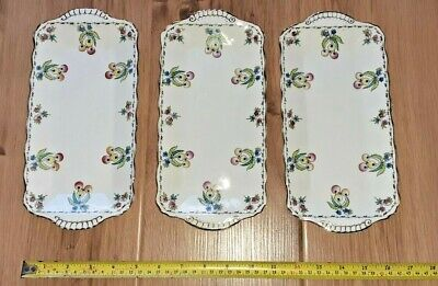 Trio Of Vintage Duchess China Berries Serving/Nibbles Dishes - Great Condition • 6.80£
