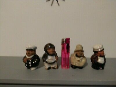 Collection Of 4 Vintage Ceramic Old Men/woman Statue Figurines Ornaments • 3£