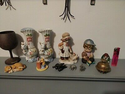 Collection Of 12 Vintage Ceramic  Statue Figurines Ornaments • 0.01£