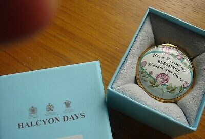STUNNING  HALCYON DAYS  ENAMEL,  When I Count My BLESSINGS I Count You Twice . • 49.99£