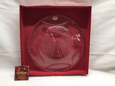 Royal Brierley Crystal Hand Made Cut Glass Plate 228mm Dia 22mm High • 15£