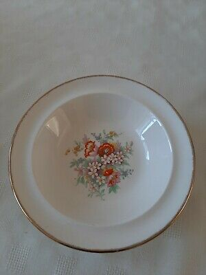 6 X Small China Bowls With Gold Edging And Flower Pattern • 10£