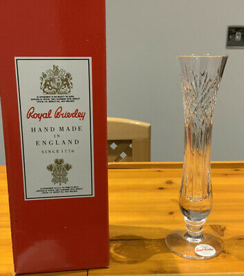 Royal Brierley Bud Vase 20cm Tall New With Box • 5£