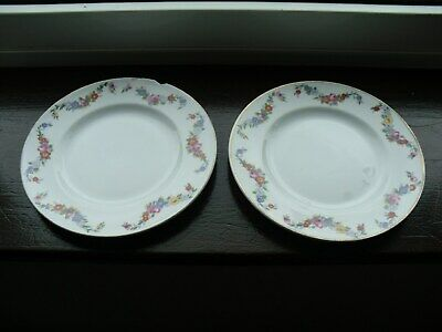 Vintage Alfred Meakin Glo-White Side Plates - Multicolour Floral Swags On Rim • 5£