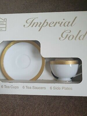 Boots Imperial Gold Tea Service - Brand New Boxed 18 Piece Tea Service • 200£