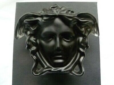 Rosenthal Versace Glass Paperweight Colour Black Brand New Boxed Medusa Head • 64.95£