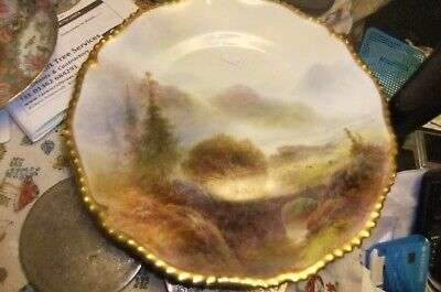 SUPERB Royal Worcester Dish/plate By HARRY DAVIS Signed At The Base. Dated 1912 • 102£
