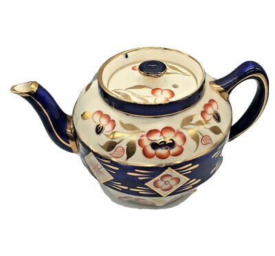 Antique Gaudy Welsh Or Gawdy Dutch Imari Teapot  Derby  Japan Or Oyster Pattern • 59.99£