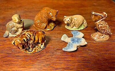 Vintage Wade Whimsies A Selection Of 6 American Wildlife Animals • 9£