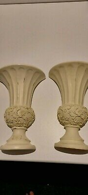 A Pair Of Pottery Wall Pockets Sconce Vases By Laura Ashley Home • 10£