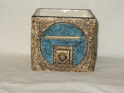 Rare Troika Cube Vase Decorated By Sue Lowe • 125£