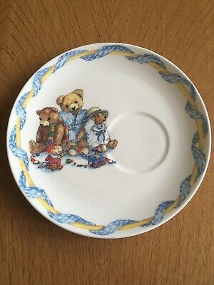 🧸 Vintage Queen's Fine Bone China, Colour-Box Teddies Plate, Lovely Condition🧸 • 5£