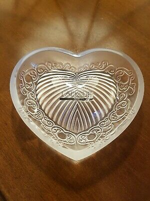 Lalique Heart Shaped Crystal • 380£