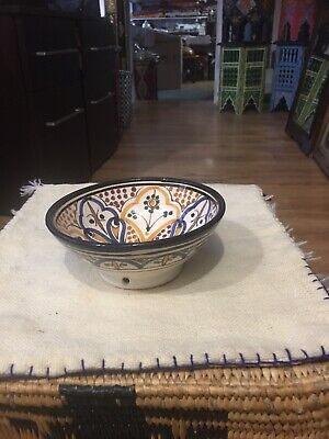 Moroccan Hand Painted Small Bowl 5.5cm Wide 5cm Deep • 5.50£