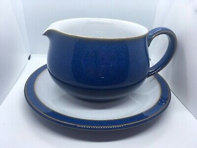 Denby Imperial Blue Tableware Gravy Jug And Saucer • 25£