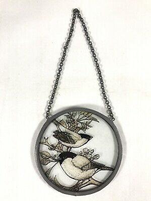 Stained Glass Birds On The Trees Window Decoration Handpainted Window Decor • 15£