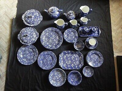 JOB LOT BURLEIGH CALICO CHINA-48 PIECES-See Photo's For Condition.Plates,Tureens • 325£