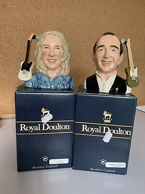 Royal Doulton Character Jugs Status Quo Signed By Rick Parfitt & Francis Rossi • 125£
