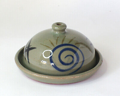 IVAN AND KAY MARTIN Cricklade Pottery - Earthenware Cheese Dome/Butter Dish • 9.99£