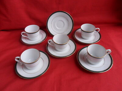 Boots (Noritake) Hanover Green, Coffee Cups ,cereal Bowls And Tea Cups JOBLOT • 24.50£