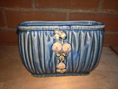 Antique Weller Pottery 1915 Blue Drapery Window Box Planter • 19.99£