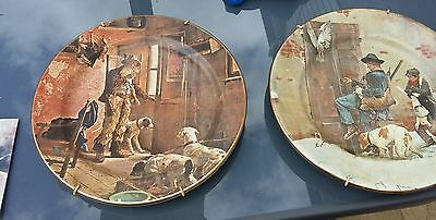 Romany Gypsy Hunting Plates China Antique Countryside Plates Wall Plate • 245£