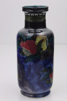 Rubens Ware By Hancock &Sons Pomegranate Pattern Rouleau Vase C1915 Hand Painted • 190£