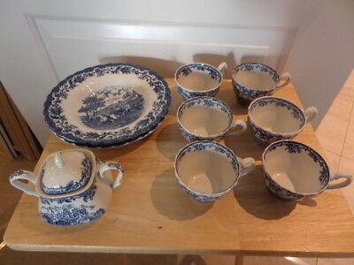 MYOTTS  COUNTRY LIFE  BLUE AND WHITE  And PINK AND WHITE - Various Items • 13£