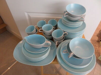POOLE SKY BLUE & DOVE GREY TWINTONE DINNER WARE - Choose From Drop Down Menu • 12£
