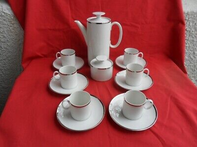 THOMAS (Germany) Platinum/Silver (Wide Band) Coffee Set • 29.99£