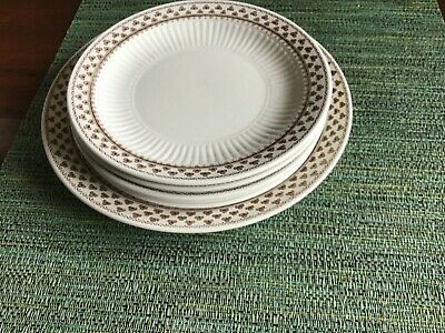 Vintage Adams Wedgwood Sharon Bread Butter Cake Plates Ironstone England Clover • 9.99£