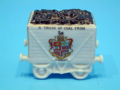 Willow Art Crested China Coal Truck - A Truck Of Coal From Harrogate • 11.99£