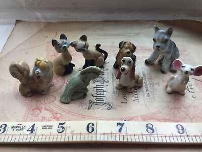 VINTAGE LOT FIGURINES INCLUDING 1950s WADE DISNEY LADY& THE TRAMP & BRANDY MOUSE • 29.50£