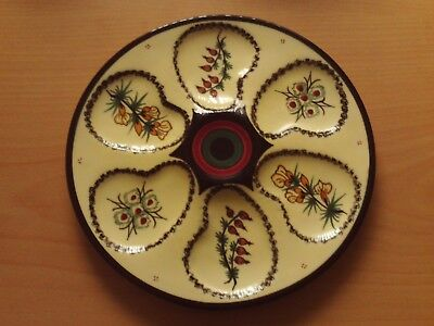 Vintage Henriot Quimper Hand Painted Six Section Oyster Plate. • 24.99£