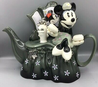 "Limited Edition #60/5000 Disney Showcase ""Minnie Dressing Table""Teapot By Cardew • 55£"