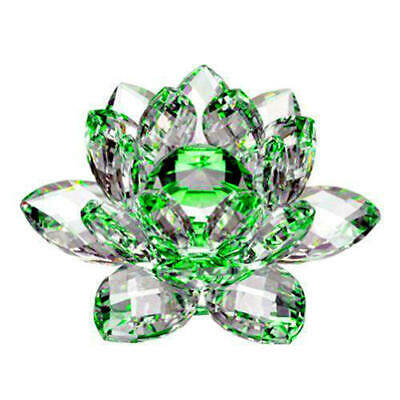 Large Green Crystal Lotus Flower Ornament With Gift Box  Crystocraft Home New_uk • 12.99£
