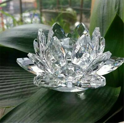 Large Clear Crystal Lotus Flower Ornament With Gift Box  Crystocraft Home Decor • 15.99£