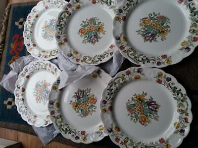 6 X 10.5   Vintage Beautiful Booths China Bayonne Dinner Plates • 49.99£