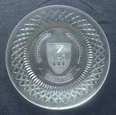 WATERFORD CRYSTAL Plate With  KERRY  Shield And Name 10.5 Cm • 25£
