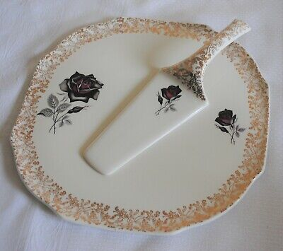 Vintage Lord Nelson Pottery Cake Plate And Slice 3-68 • 14£