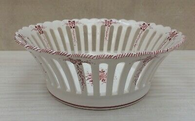 French Faience Malicorne Perforated Fruit Bowl  22cm Fait Main Coupe A Fruits • 12£