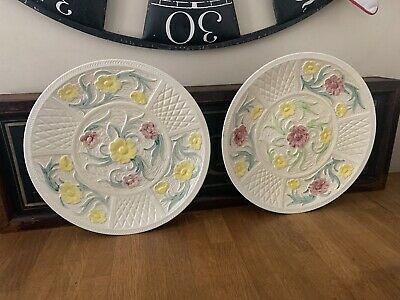 Pair Of Hand Painted Jacobean Pattern Charger Plates By H J Wood • 68£