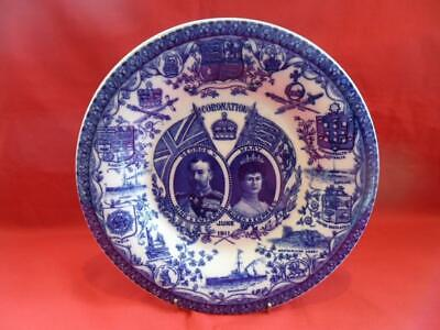 K&T (Longton) Antique 1911 Coronation Of King George V & Queen Mary - PLATE • 18.50£