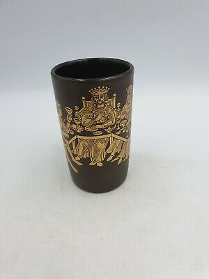 Purbeck Pottery Tea Coffee Mug Gold & Brown Medieval Scene King's Feast • 9.99£