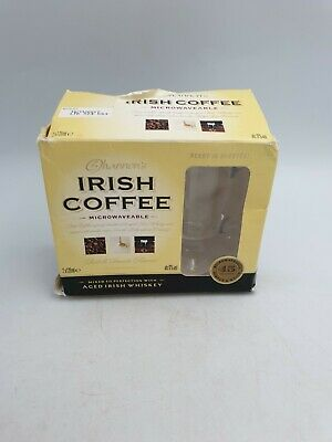 SHANNON'S IRISH COFFEE CLEAR GLASS FOOTED 120ml CUPS BOXED PAIR • 14.99£