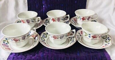 Adams Old Colonial - Set Of 6 Tea Cups And Saucers • 24.99£