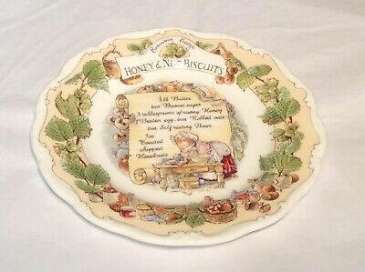 Rare Royal Doulton Bramley Hedge Honey And Nut Biscuits Plate • 89.99£